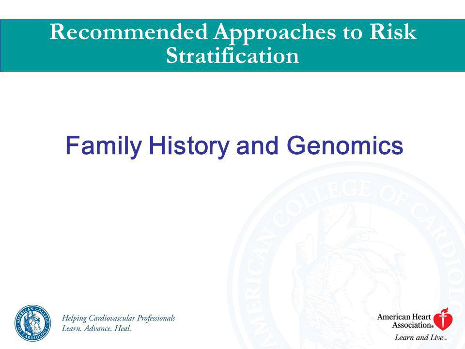 Family History and Genomics