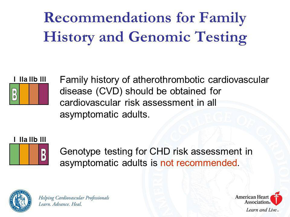 Recommendations for Family History and Genomic Testing
