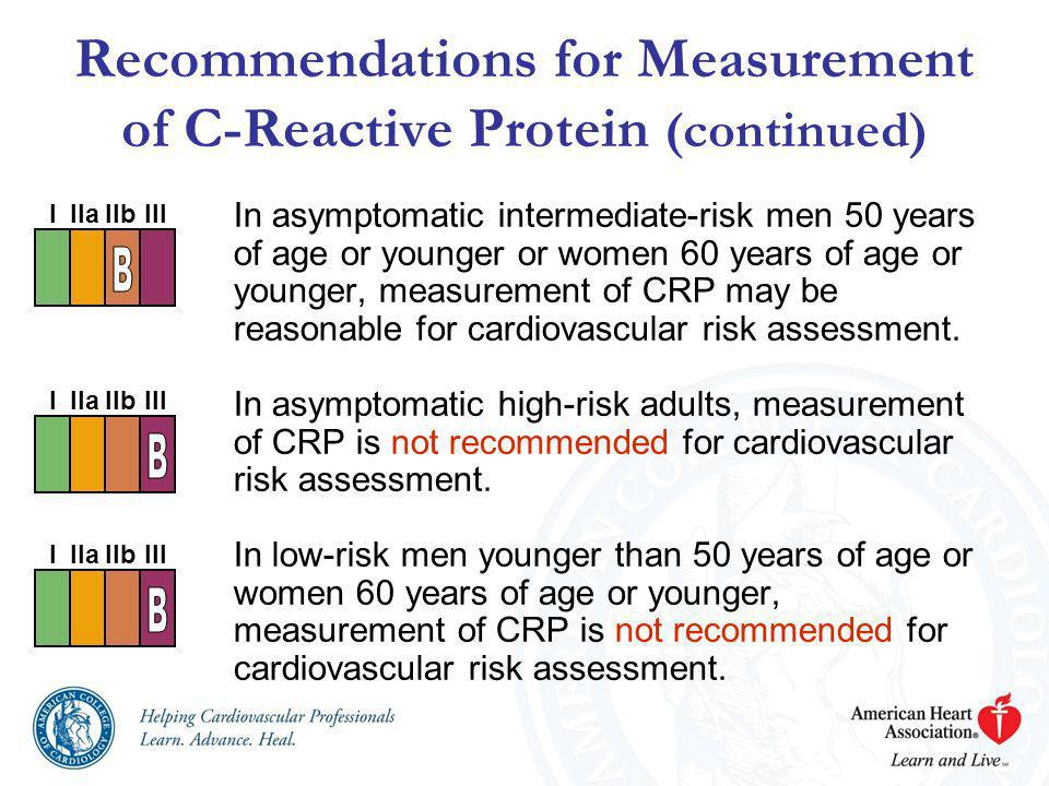 Recommendations for Measurement of C-Reactive Protein (continued)