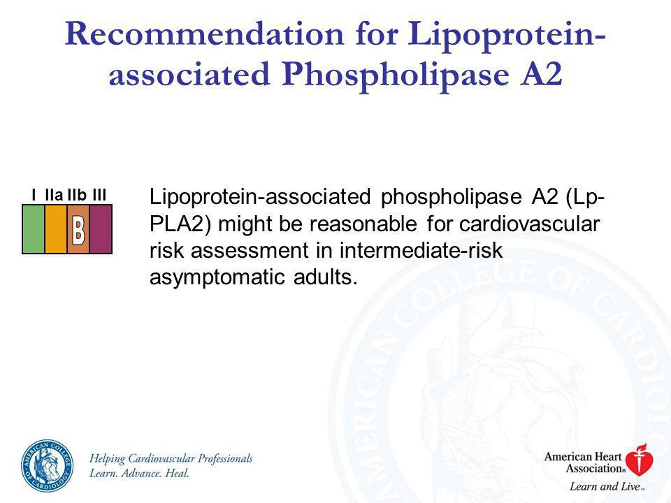 Recommendation for Lipoprotein-associated Phospholipase A2