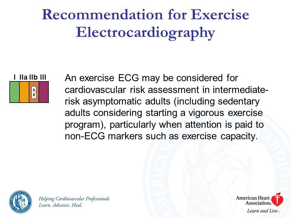 Recommendation for Exercise Electrocardiography