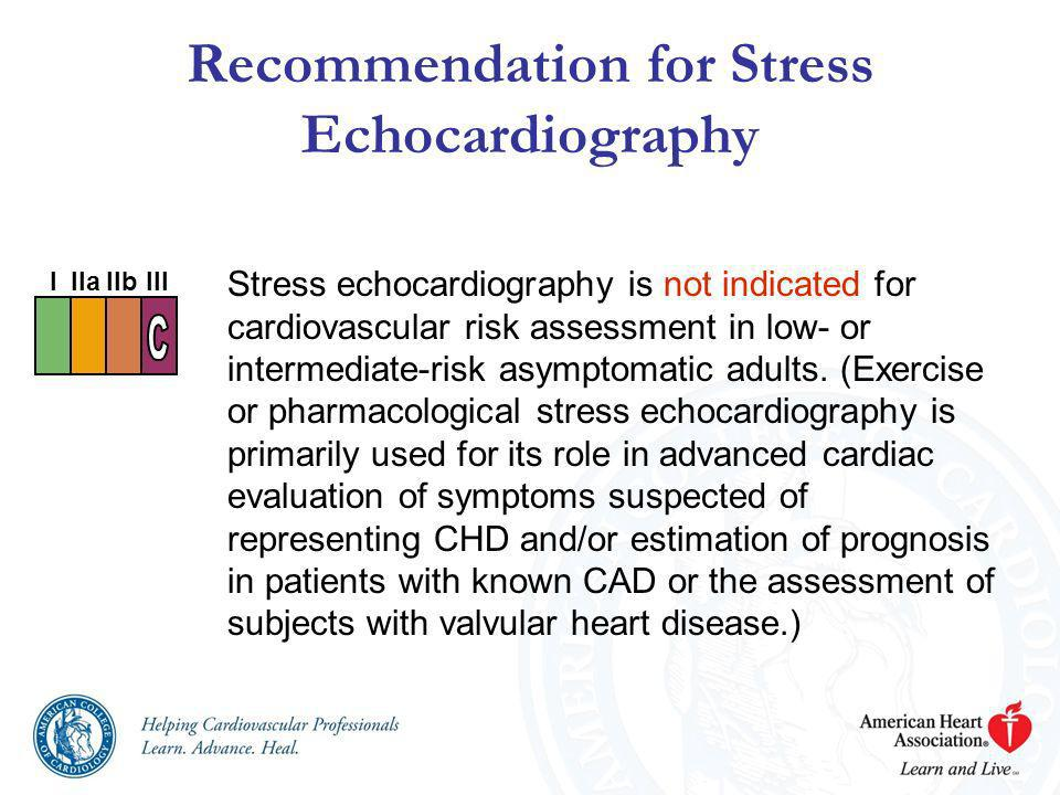 Recommendation for Stress Echocardiography