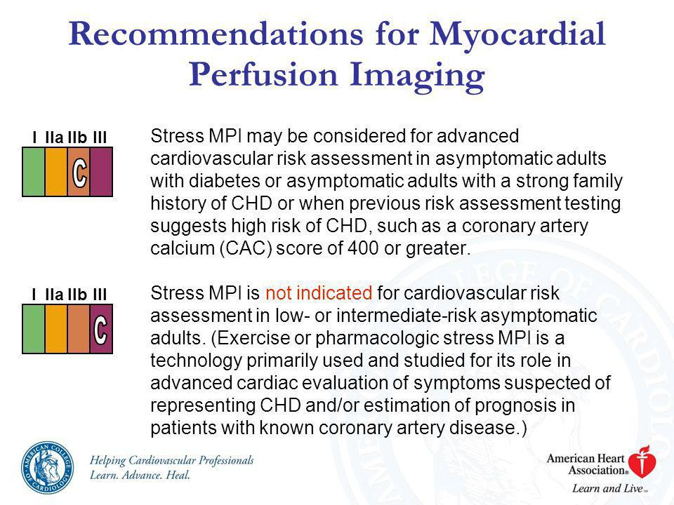 Recommendations for Myocardial Perfusion Imaging