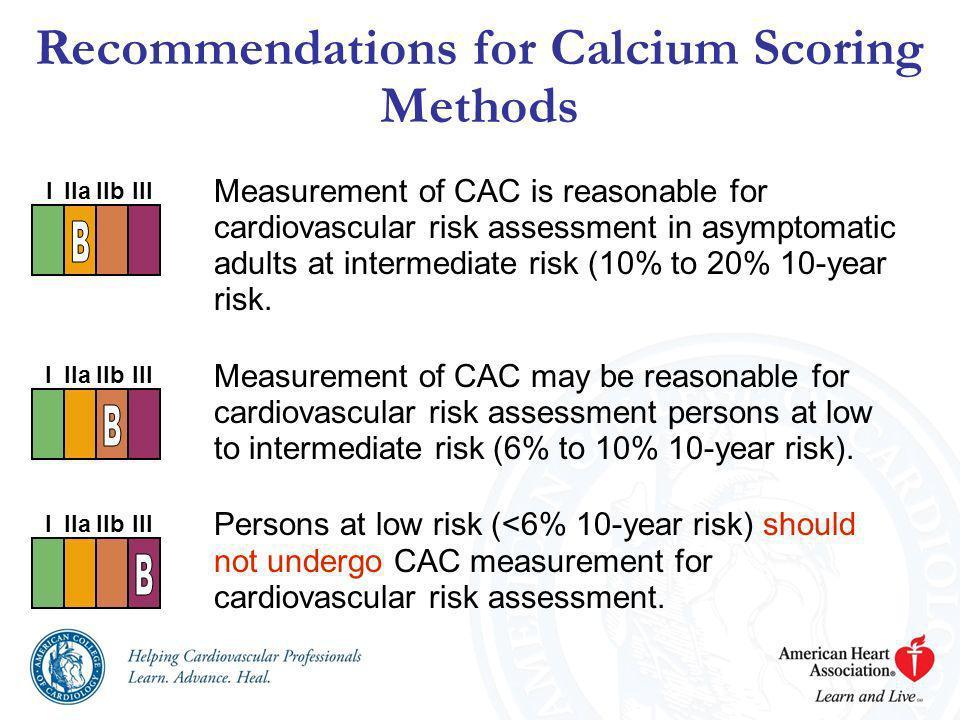 Recommendations for Calcium Scoring Methods