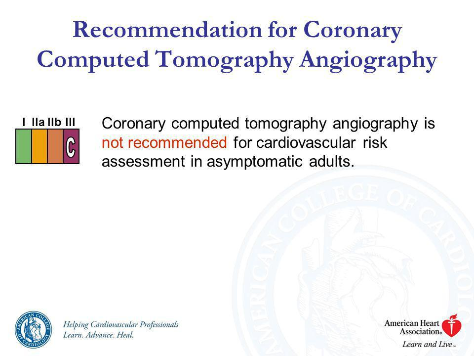 Recommendation for Coronary Computed Tomography Angiography