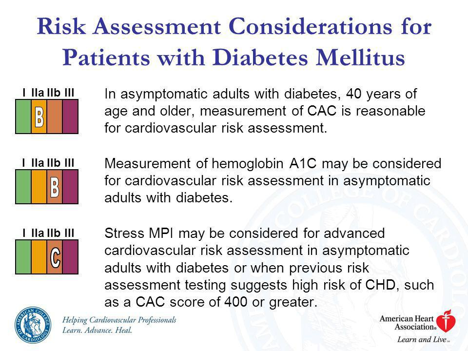 Risk Assessment Considerations for Patients with Diabetes Mellitus