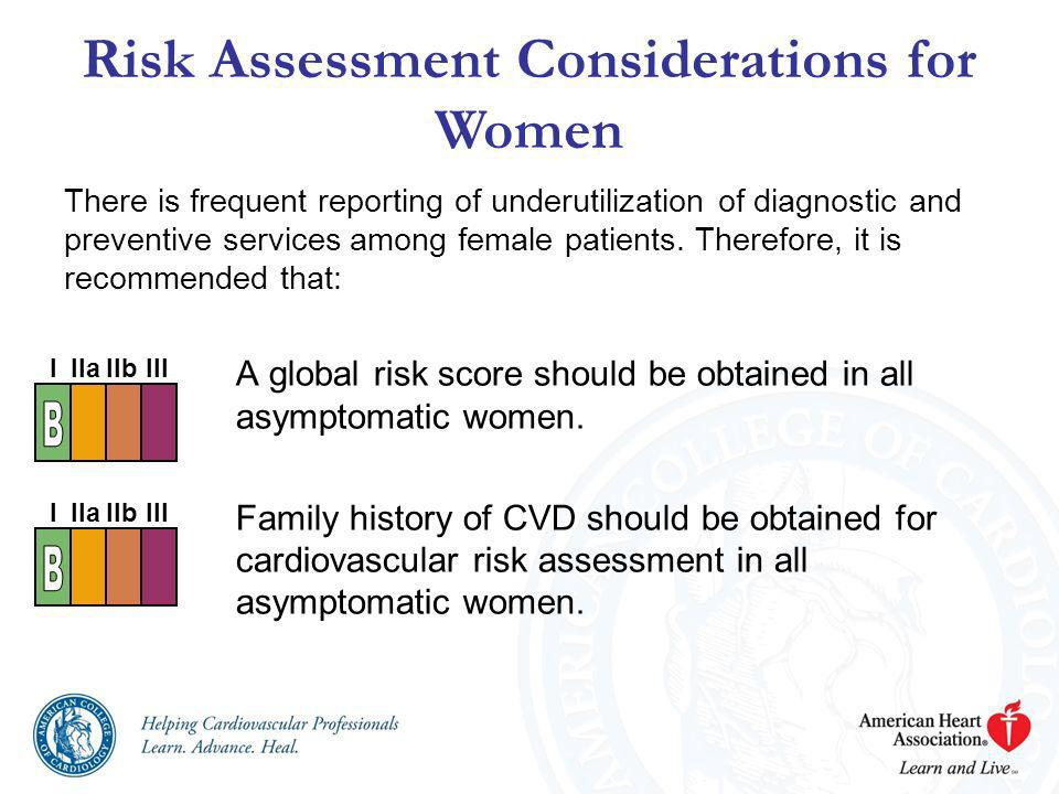 Risk Assessment Considerations for Women