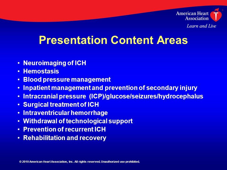 Presentation Content Areas