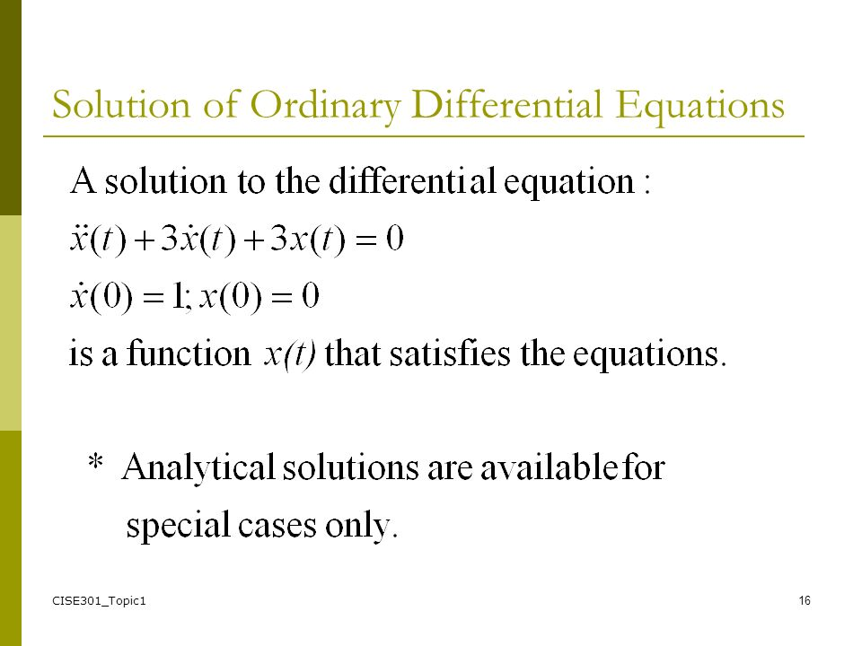 mit opencourseware ordinary differential equations Few books on ordinary differential equations (odes) have the elegant geometric insight of this one, which puts emphasis on the qualitative and geometric properties of odes and their solutions, rather than on routine presentation of algorithms.