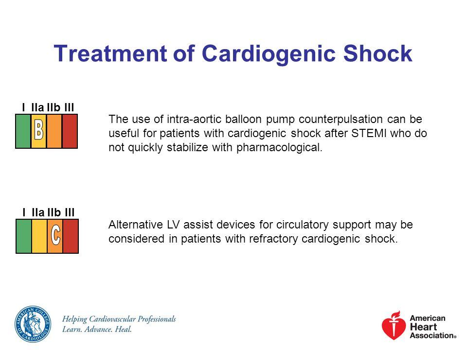 Treatment of Cardiogenic Shock