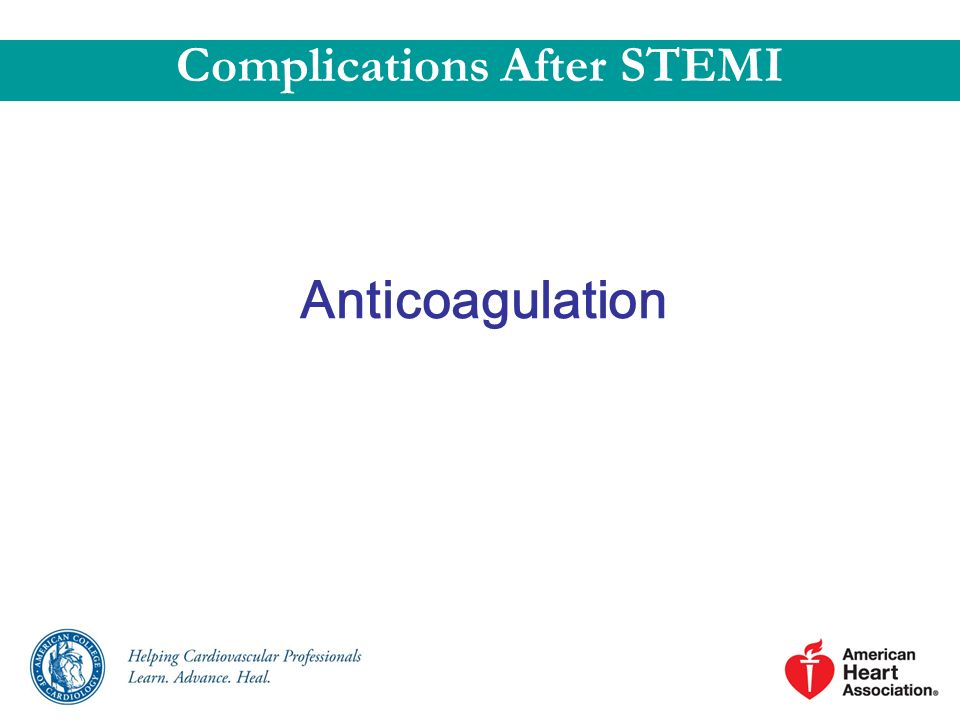 Complications After STEMI
