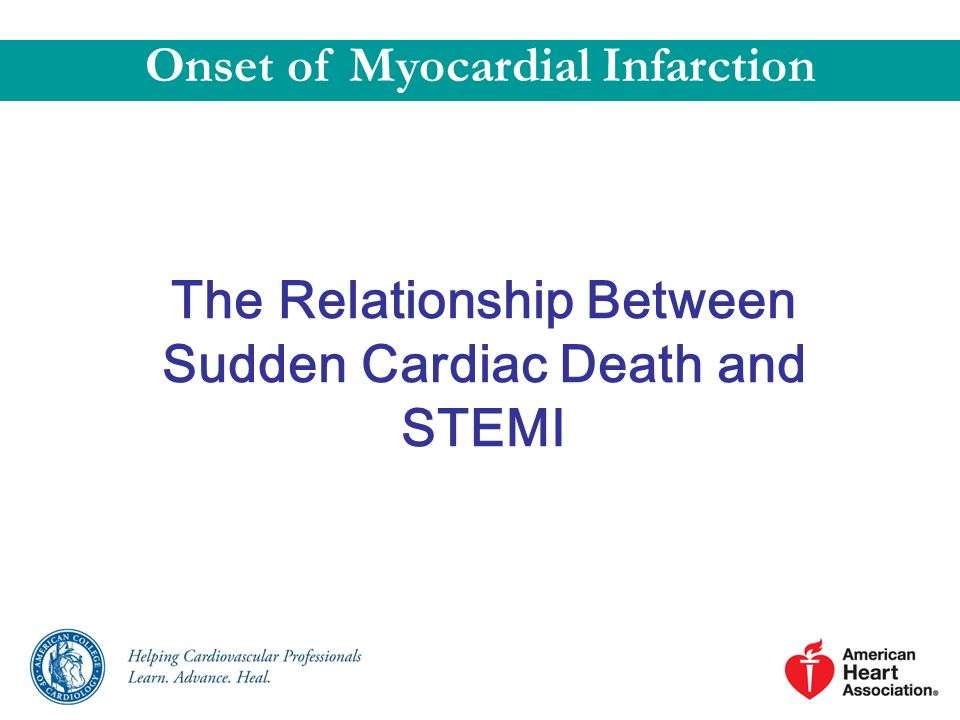 The Relationship Between Sudden Cardiac Death and STEMI