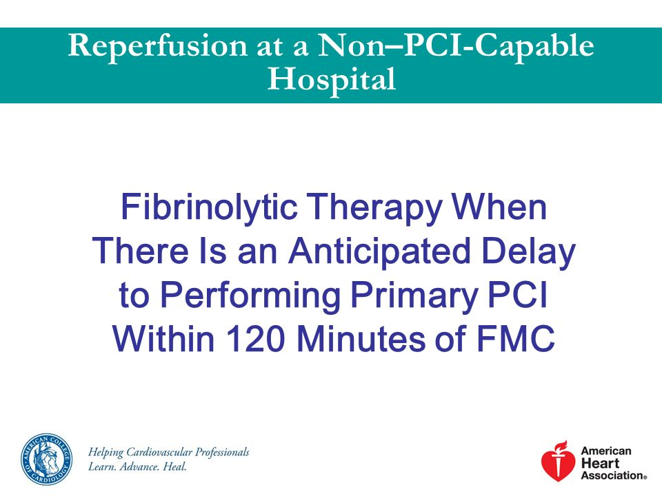 Reperfusion at a Non–PCI-Capable Hospital