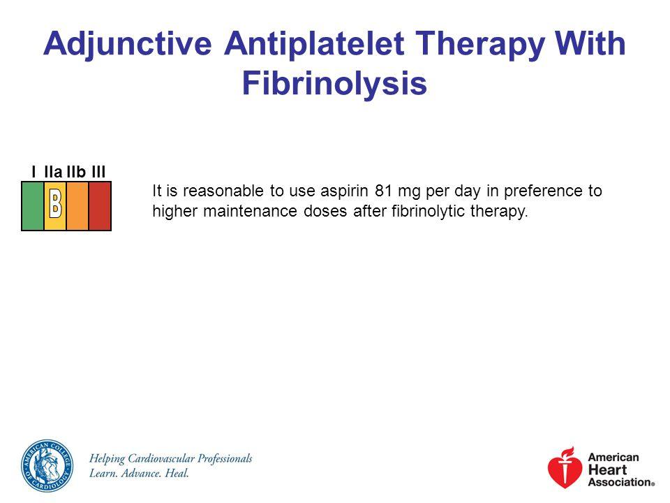Adjunctive Antiplatelet Therapy With Fibrinolysis