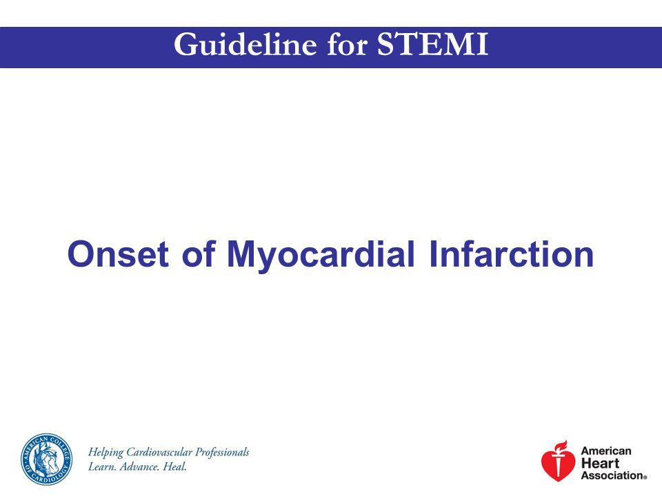 Onset of Myocardial Infarction