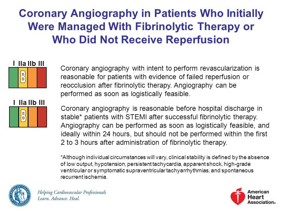 Coronary Angiography in Patients Who Initially Were Managed With Fibrinolytic Therapy or Who Did Not Receive Reperfusion