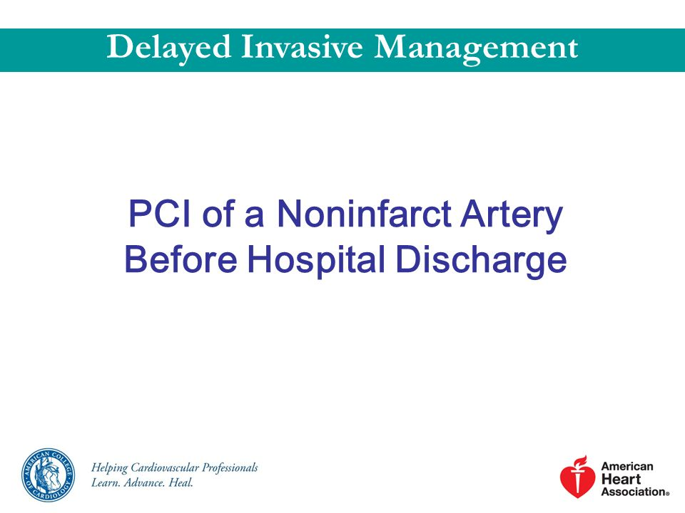 PCI of a Noninfarct Artery Before Hospital Discharge