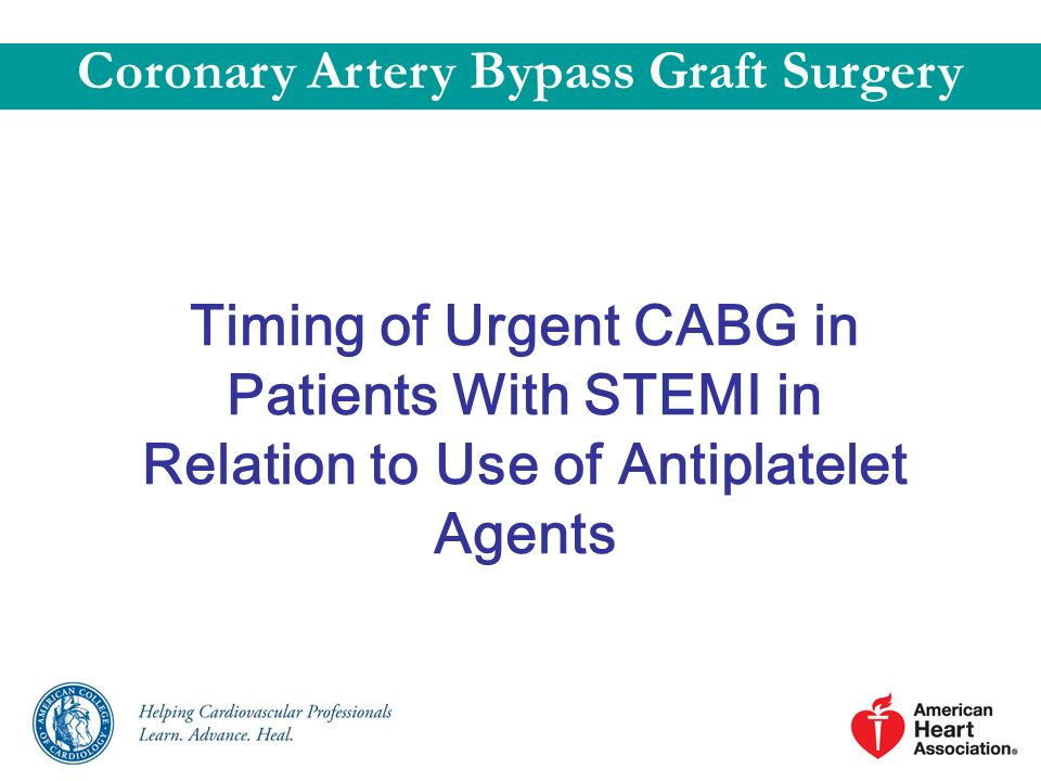 Coronary Artery Bypass Graft Surgery
