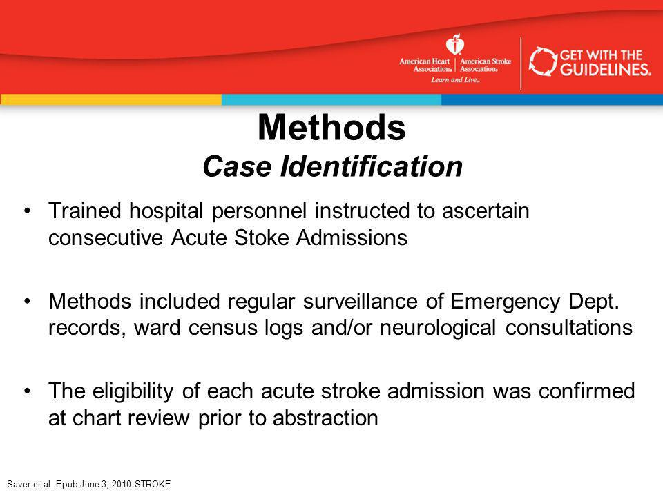 Methods Case Identification