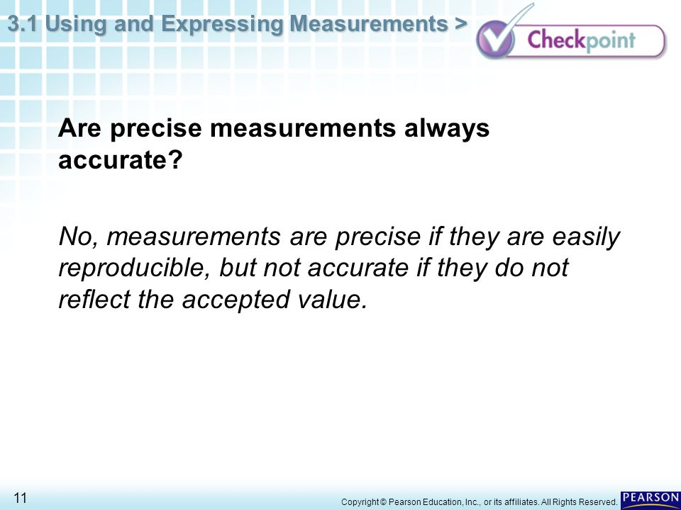 Are precise measurements always accurate