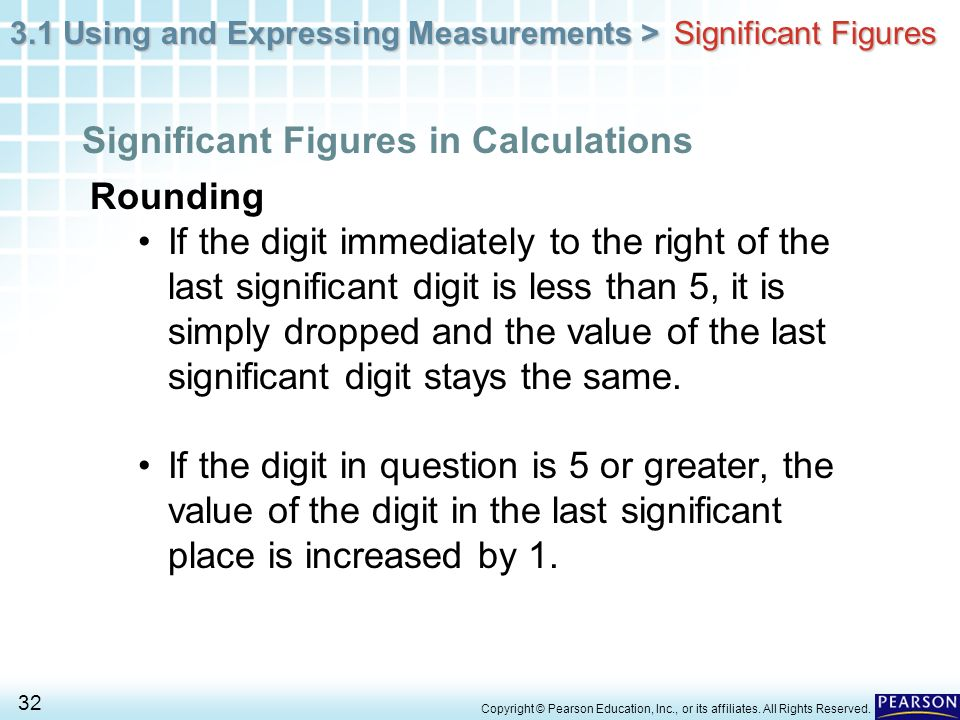 Significant Figures in Calculations