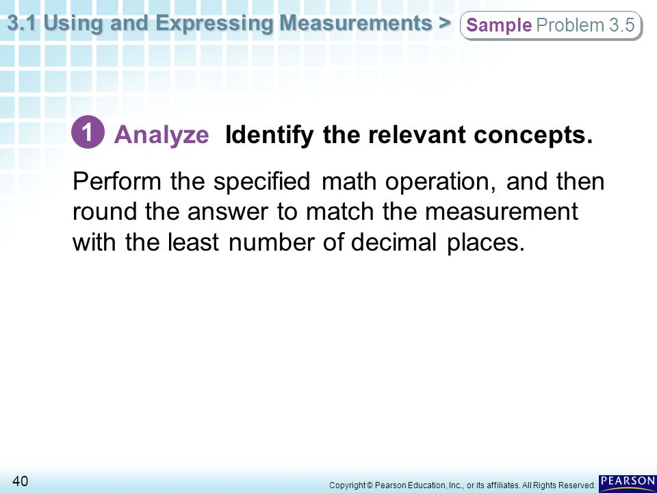 Analyze Identify the relevant concepts.