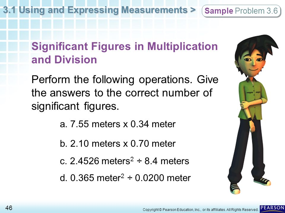 Significant Figures in Multiplication and Division