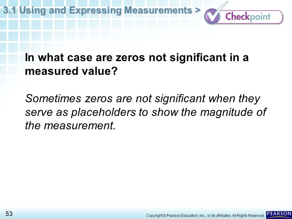 In what case are zeros not significant in a measured value