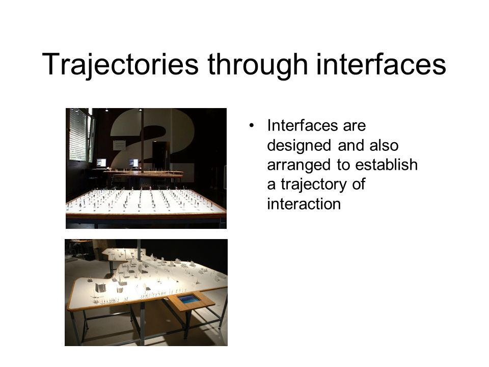 Trajectories through interfaces