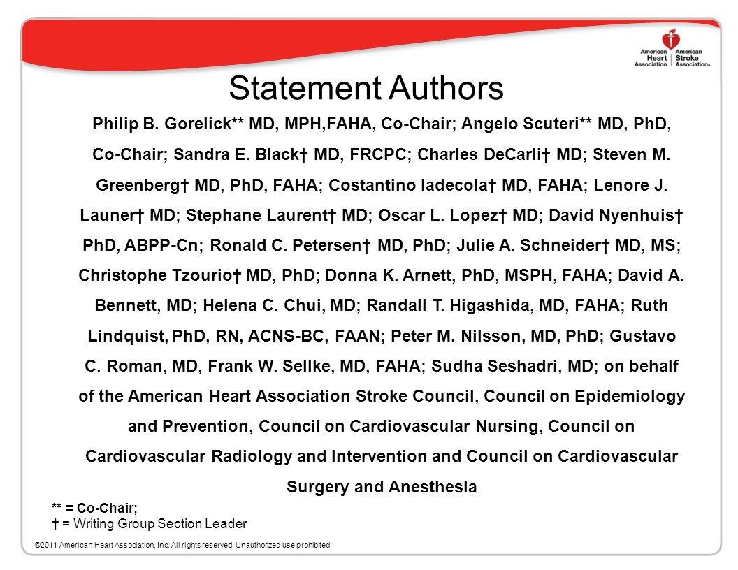 Statement Authors