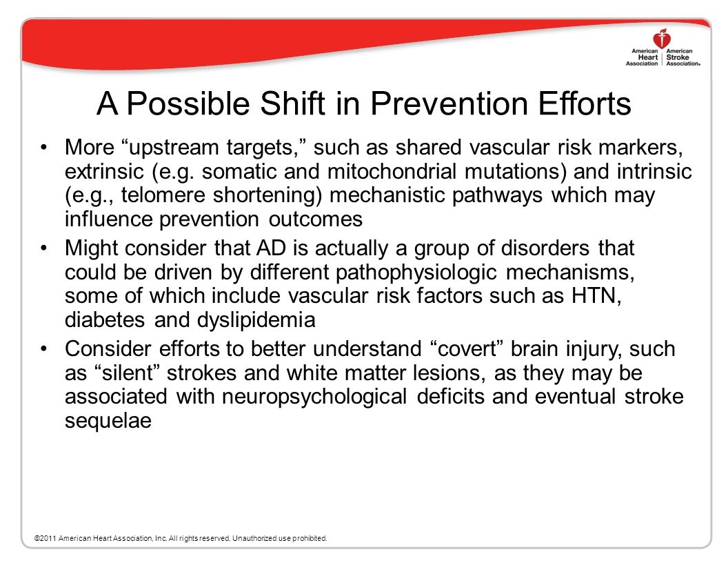 A Possible Shift in Prevention Efforts