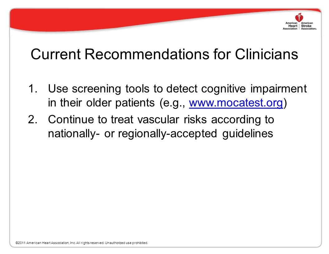 Current Recommendations for Clinicians