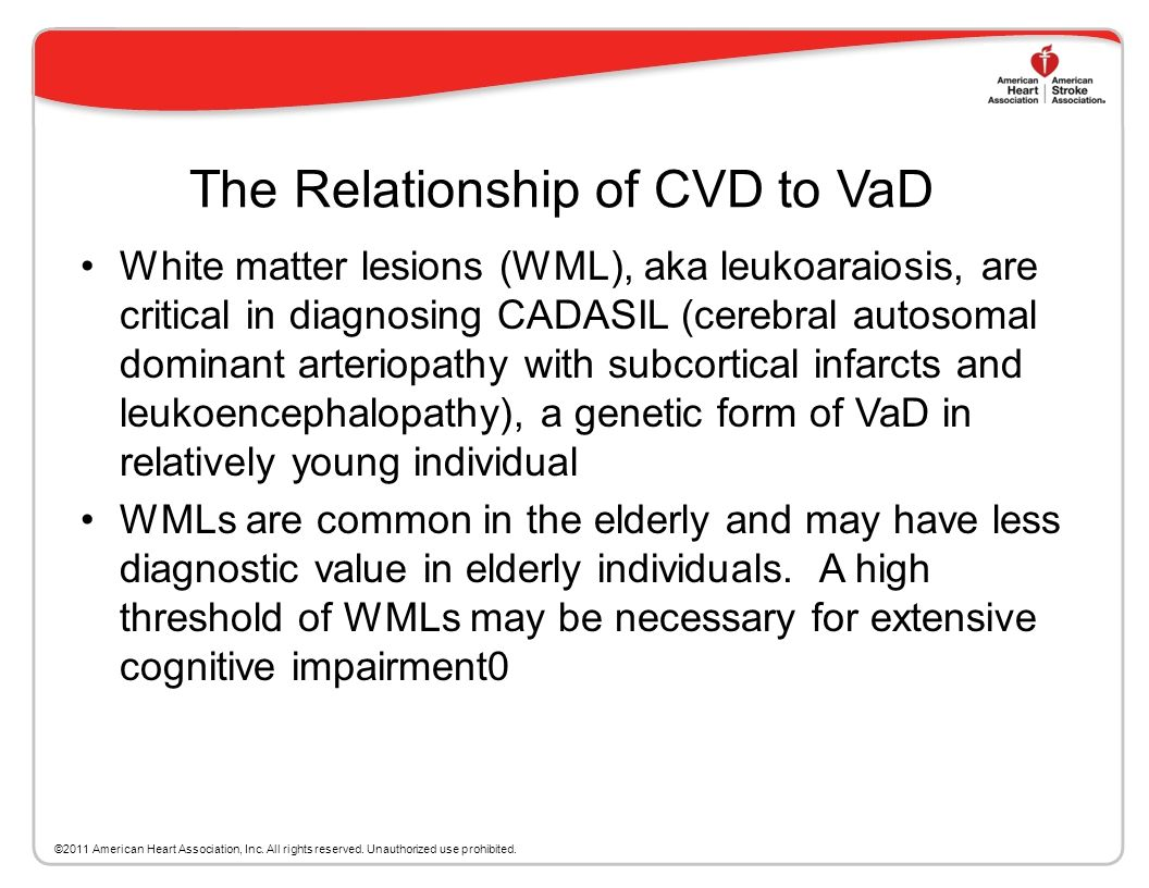 The Relationship of CVD to VaD
