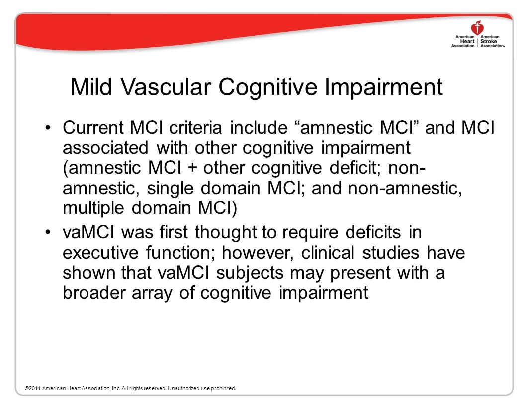 Mild Vascular Cognitive Impairment