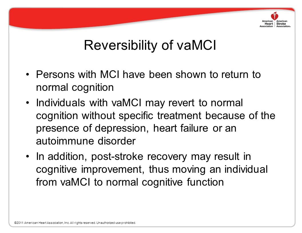 Reversibility of vaMCI