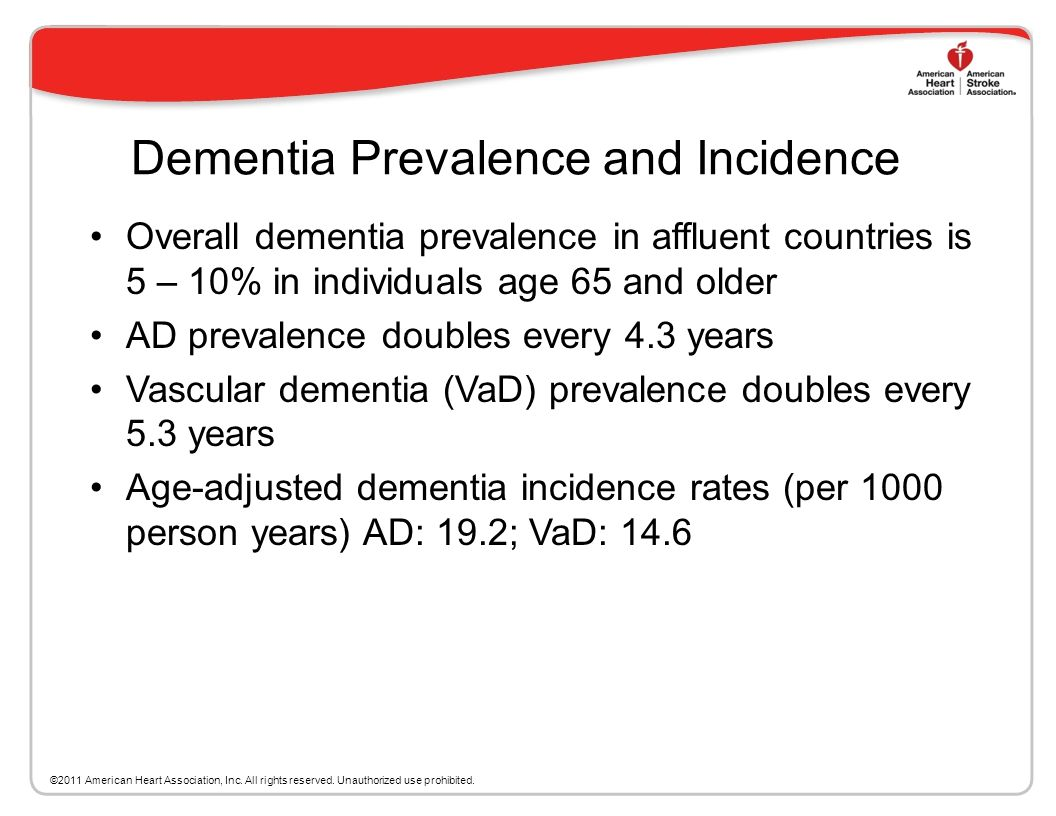 Dementia Prevalence and Incidence