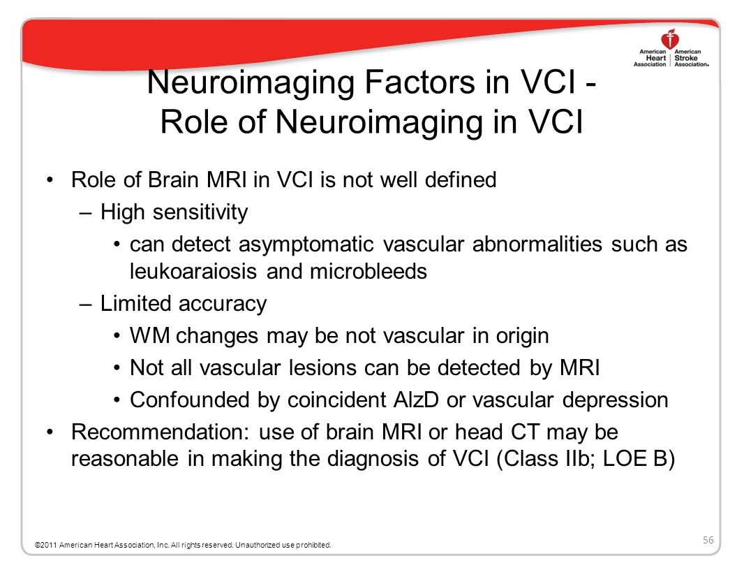 Neuroimaging Factors in VCI - Role of Neuroimaging in VCI