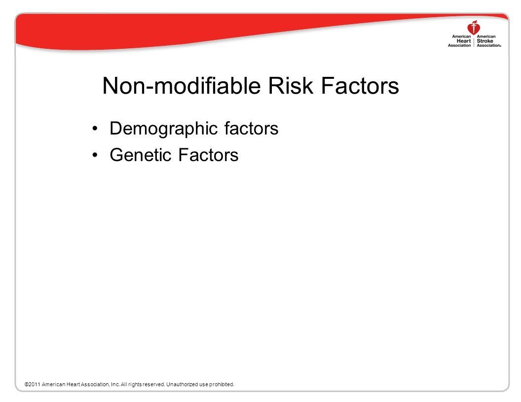 Non-modifiable Risk Factors