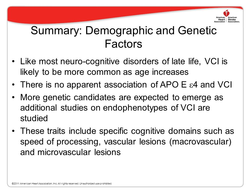 Summary: Demographic and Genetic Factors