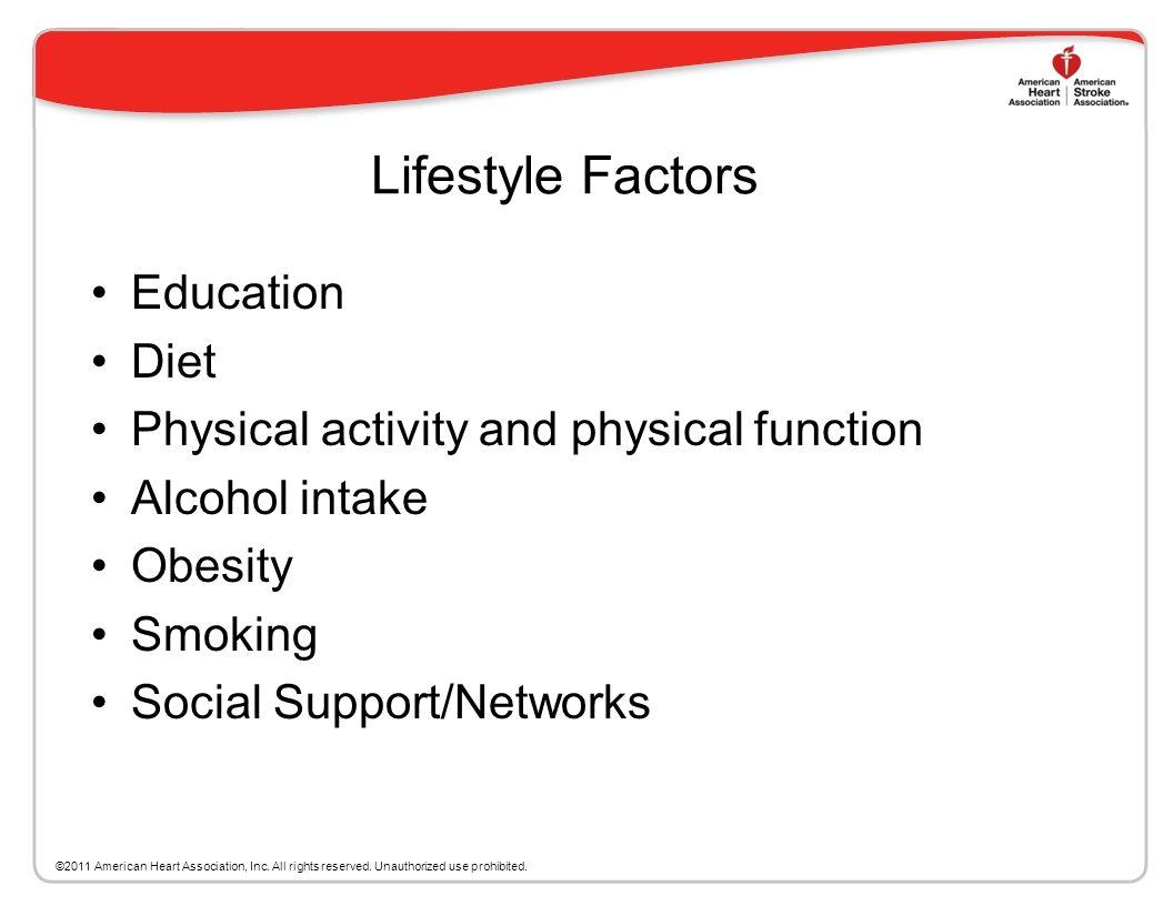 Lifestyle Factors Education Diet