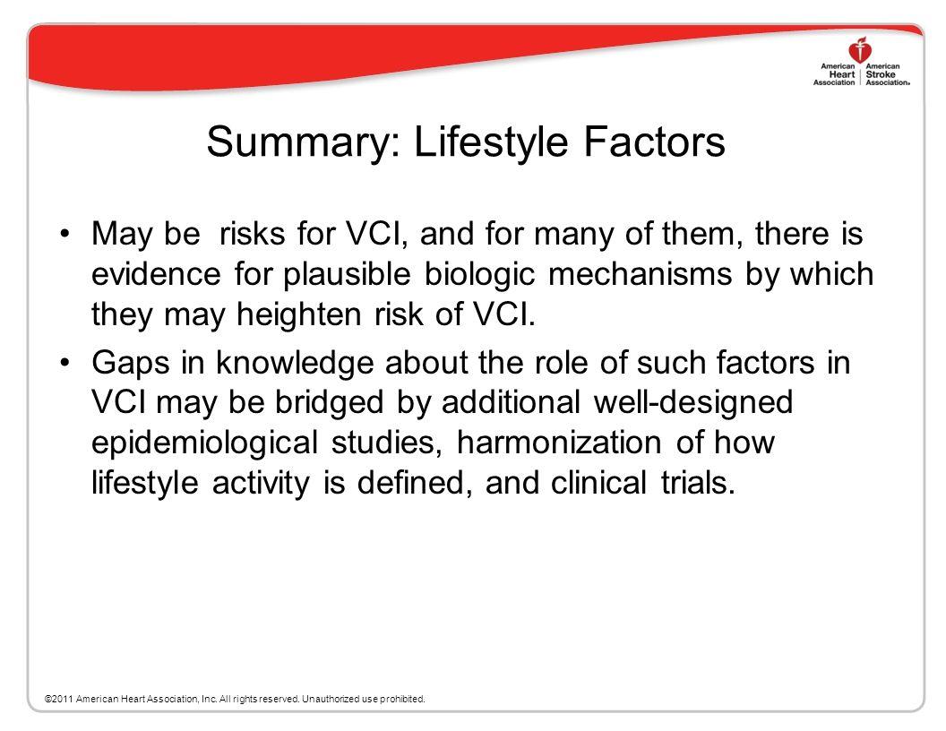 Summary: Lifestyle Factors