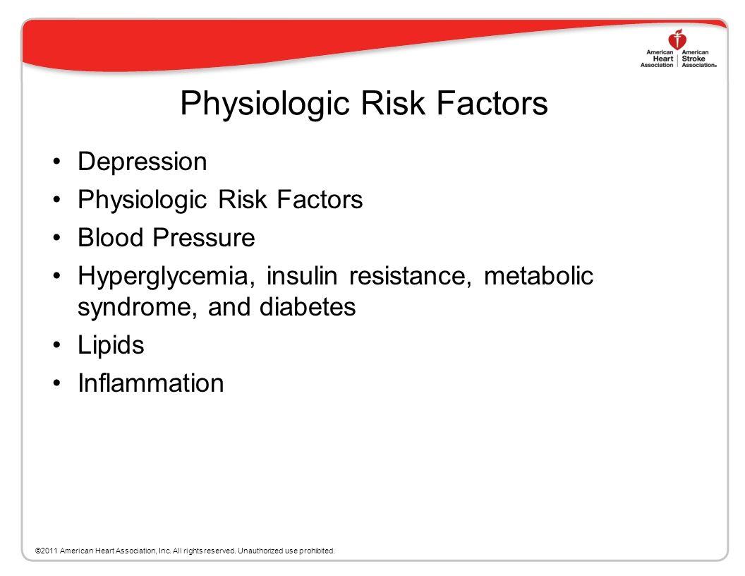 Physiologic Risk Factors