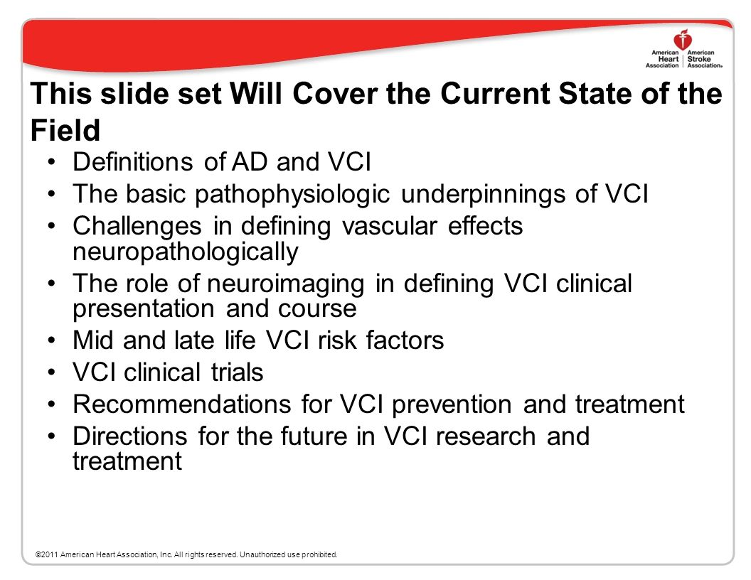 This slide set Will Cover the Current State of the Field