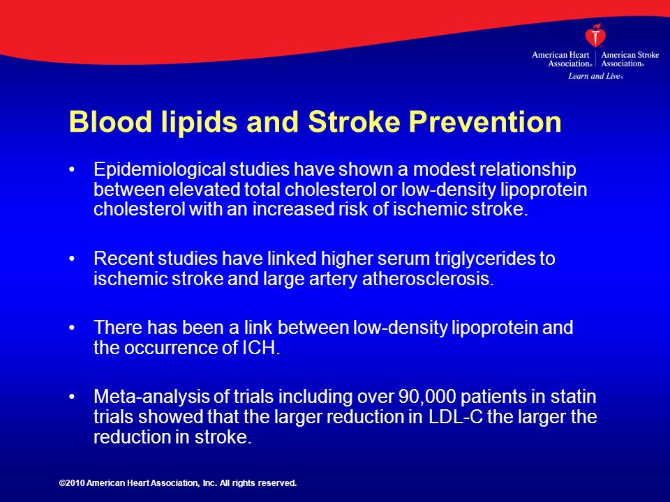 Blood lipids and Stroke Prevention