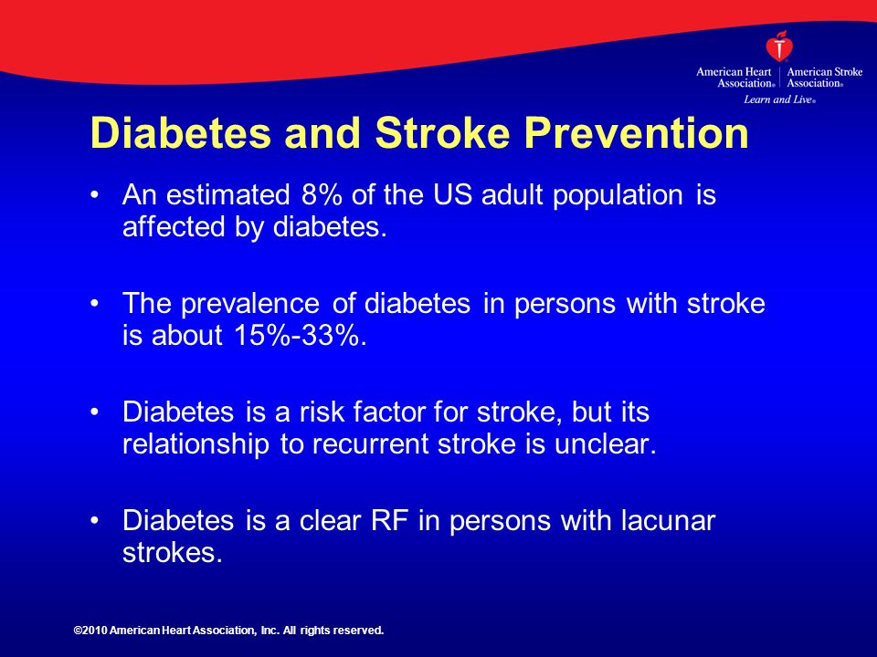 Diabetes and Stroke Prevention