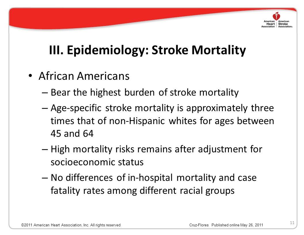 III. Epidemiology: Stroke Mortality