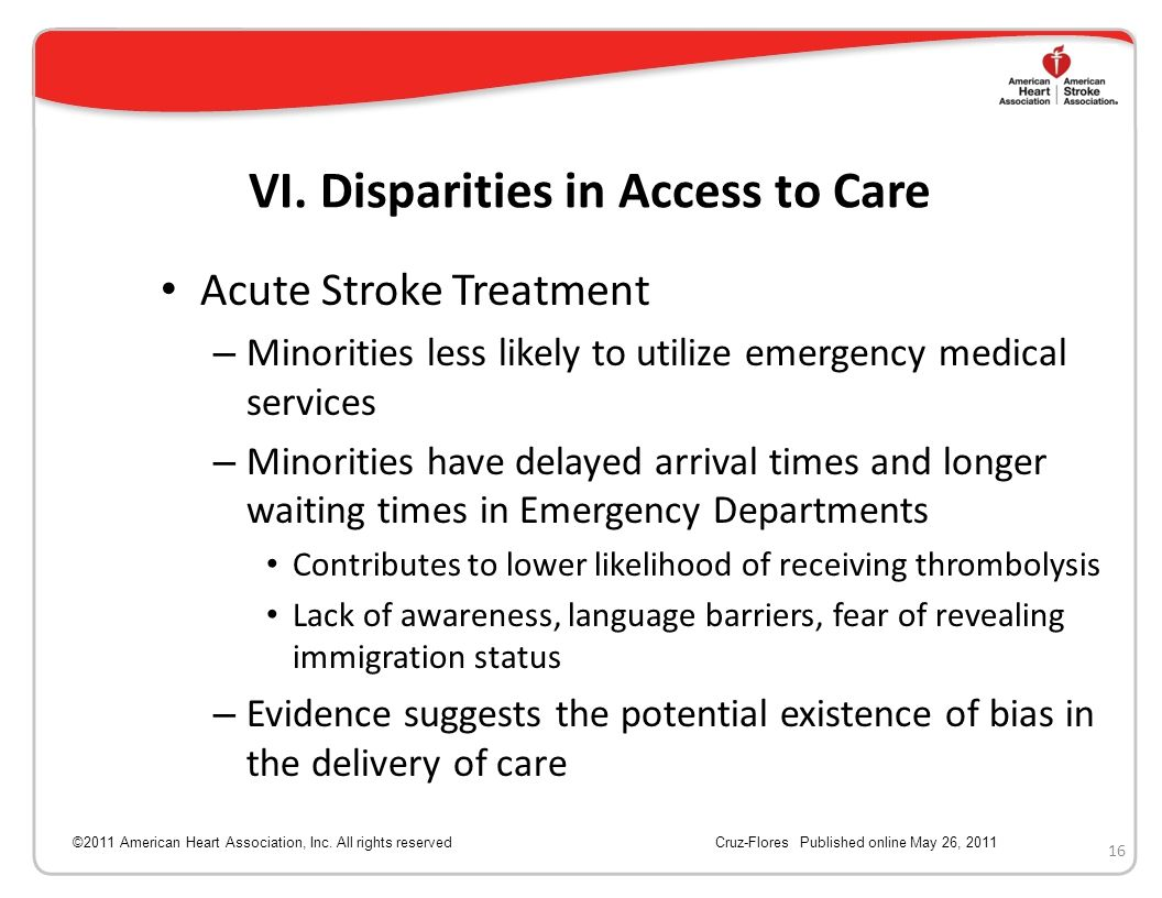 VI. Disparities in Access to Care