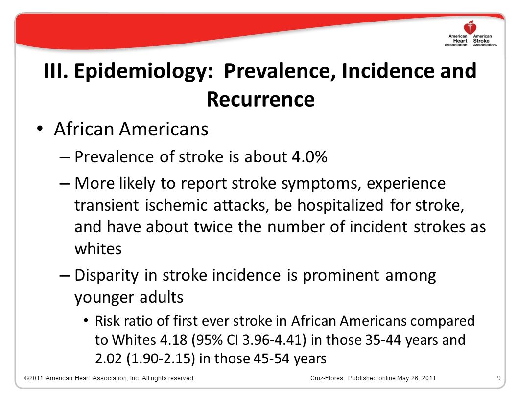 III. Epidemiology: Prevalence, Incidence and Recurrence