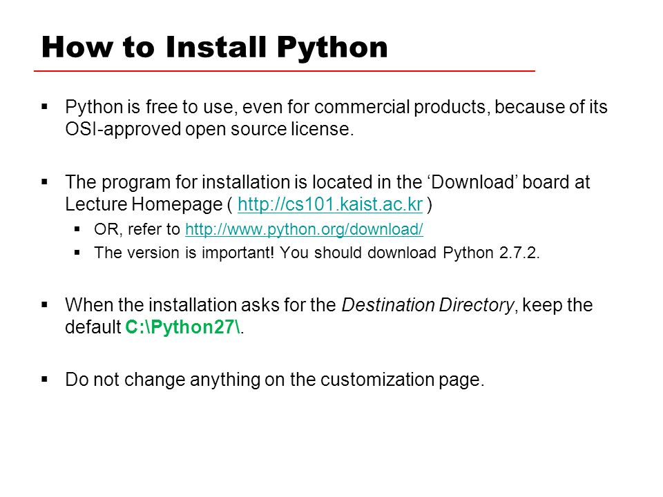 How To Install Python Python Is Free To Use Even For Commercial Products Because