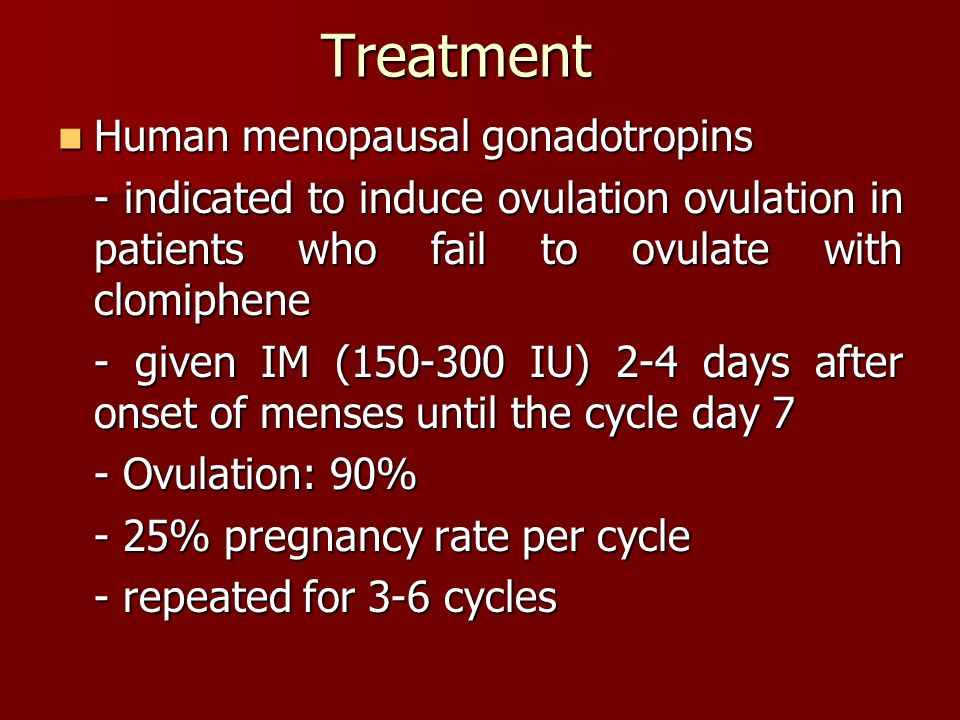 clomiphene menstruation after menopause